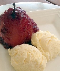 A Winter's Lunch ~ Raspberry Poached Pears