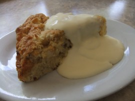 Sunday Musings - Apple Crumble Cake with Cream