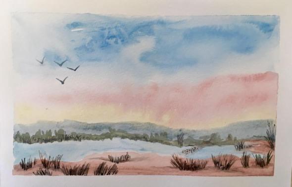 Watercolour Scene